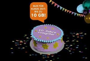 10 Jahre Congstar: Allnet Flat Angebote mit bis zu 10 GB