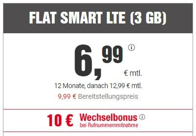 bildconnect allnet flat FLAT SMART LTE (3 GB)