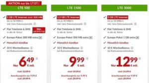 maxxim Aktion - Allnet Flat mit 1 GB & SMS Flat für nur 6,49 EUR - nur bis 17.07.17
