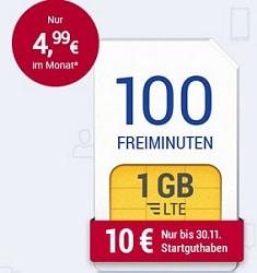 Preissenkung: GMX Handytarif All-Net LTE 1000 jetzt dauerhaft 4,99 €