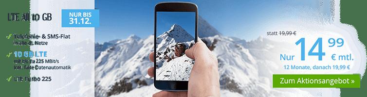 NEU bei winSIM: Allnet-Flat mit 10 GB LTE für nur 14,99 Euro mtl.