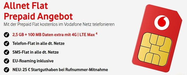 CallYa Allnet Flat von Vodafone