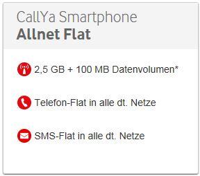 CallYa Allnet-Flat: Preis 22,50 / 4 Wochen - ohne Vertrag