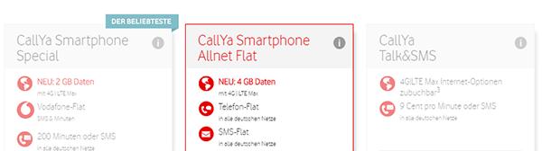 CallYa Smartphone Allnet Flat (Vodafone)