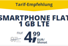Photo of freenetmobile Smartphone Flat: 1 GB LTE + 100 Minuten für 4,99 € (statt 9,99 €)