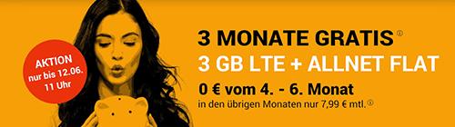 winsim 3 Monate gratis Aktion