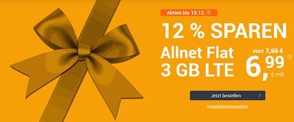 winSIM LTE All 3 GB für nur 6,99 € statt 7,99 €