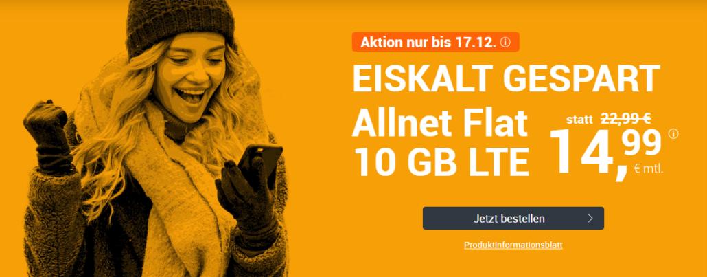 winSIM LTE All 10 GB im Angebot