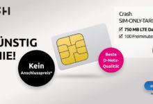 Photo of Crash Smartphone Flat: 750 MB + 100 Freiminuten für nur 2,99 € pro Monat