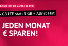 Photo of handyvertrag LTE All 5 + 1 GB: Allnet-Flat + 6 GB LTE für nur 7,99 €