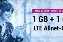 Photo of simplytel LTE 1000: Allnet Flat + 2 GB LTE nur 3,99 € – Aktion bis 7.4.