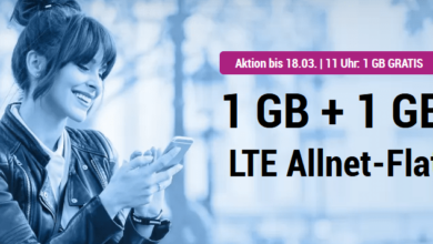 Photo of simplytel LTE 1000: Allnet Flat + 2 GB LTE nur 3,99 € – Aktion bis 18.3.