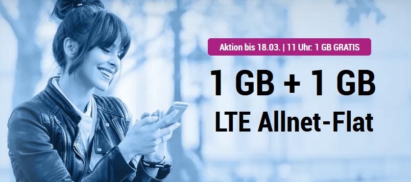 simplytel LTE 1000: Allnet Flat + 2 GB LTE nur 3,99 € – Aktion bis 7.4.