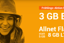 Photo of winSIM LTE All 5 + 3: Allnet Flat + 8 GB LTE Flat für nur 9,99 € – bis 26.3.