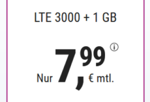 Photo of simplyTel LTE 3000: Allnet-Flat + 3 GB nur 7,99 €